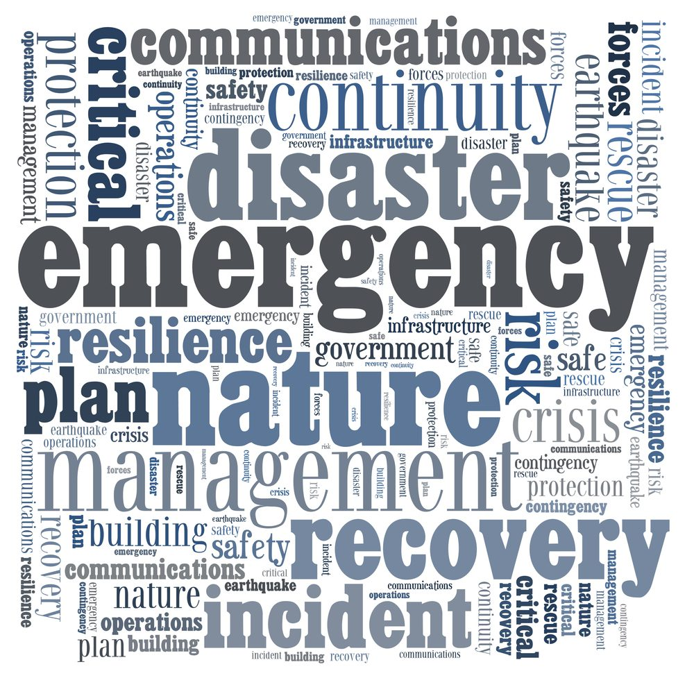 words describing emergency disaster